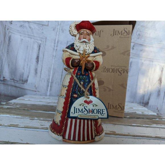Jim shore 4022916 wesolych swiat Santa Star figuri